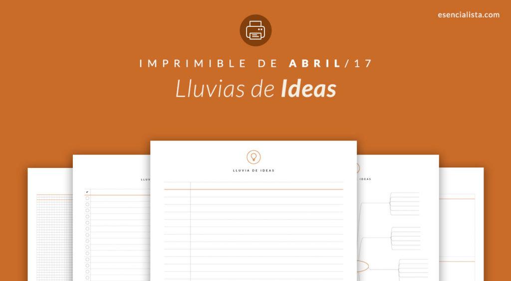 Esencialista - Imprimible de Abril Lluvia de Ideas