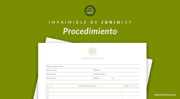 Formato de procedimiento - Biblioteca de Imprimibles - Esencialista