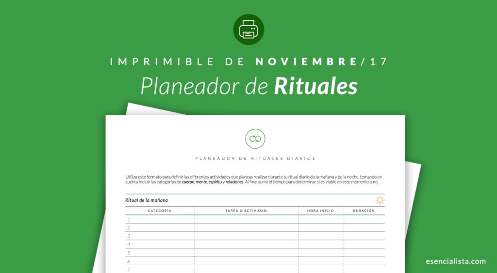 Planeador de Rituales Diarios